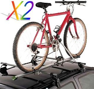 Tms 2 X Aluminum Upright Car Rooftop Folding Bicycle Rack Carrier