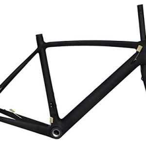 Full-Carbon-Matt-Matt-Disc-Brake-Road-Bike-Cycling-BSA-Frame-Fork-50cm-0